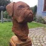 Hundebüste Boxer (Rostoptik)