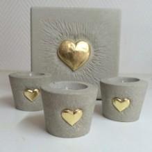 """""""Herz zu verschenken"""" Teelichthalter"""